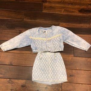 Girl toddler size 4T vintage denim outfit